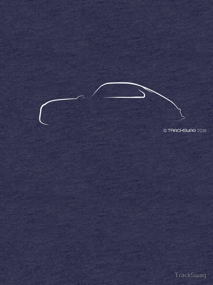 Profile Silhouette Porsche 356 - white by TrackSwag