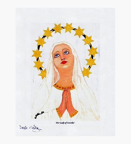 My acrylic painting of Our Lady of Lourdes in Gibraltar Photographic Print