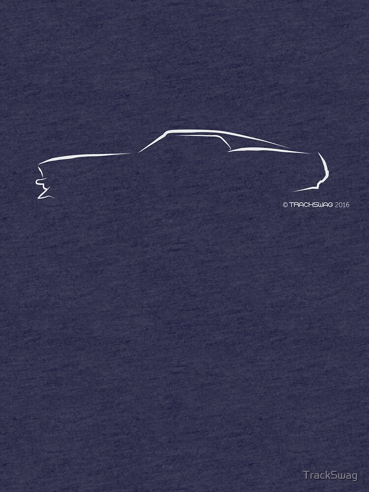 Profile Silhouette Mustang Mach 1 - white by TrackSwag