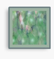 Green Ripple Fabric Design Canvas Print