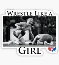 Wrestle wie ein Mädchen Sticker