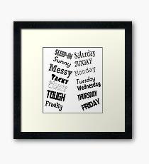 The Week Framed Print