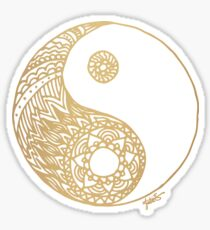 Gold Yin Yang Sticker
