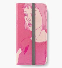 Girl eating an icecream on a hot day iPhone Wallet/Case/Skin