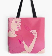 Girl eating an icecream on a hot day Tote Bag