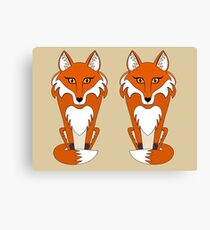 TWO FOXES Canvas Print