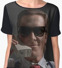 Patrick Bateman on Phone (American Psycho) Chiffon Top