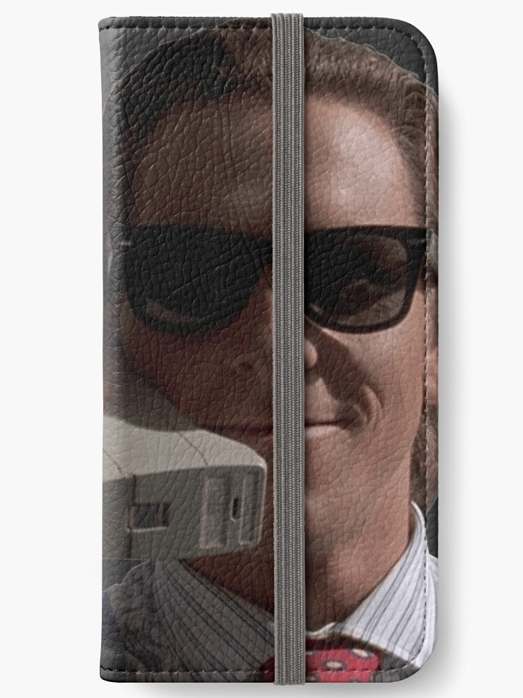 Patrick Bateman On Phone American Psycho Iphone Wallets By
