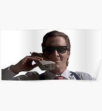 Patrick Bateman on Phone (American Psycho) Poster