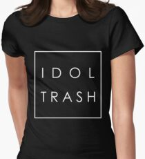 Idol Trash (On Black) Womens Fitted T-Shirt