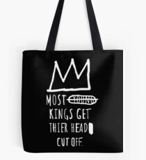 """Basquiat """"Young Kings"""" Quote Tote Bag"""