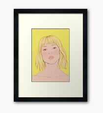 Lea- fashion illustration portrait Framed Print