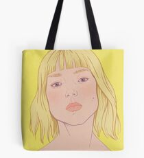Lea- fashion illustration portrait Tote Bag