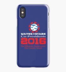 Wayne and Stark for President iPhone Case/Skin