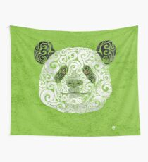 Swirly Panda Wall Tapestry