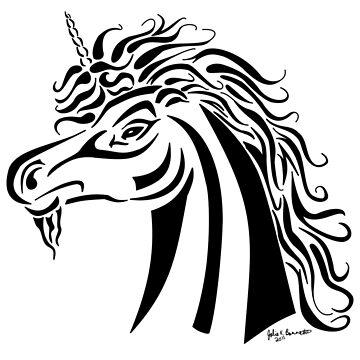 Tribal Unicorn by JBonnetteArt