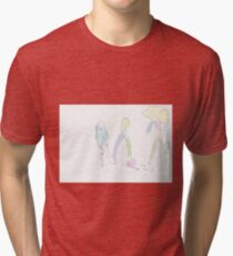 Colourful world in white forest Tri-blend T-Shirt