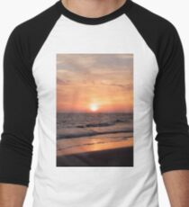 Sunset at the Beach Men's Baseball ¾ T-Shirt