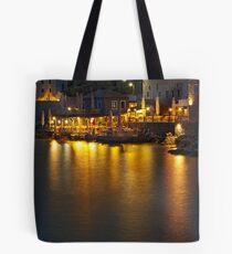 Limeni at dusk, Mani, Peloponnese Tote Bag