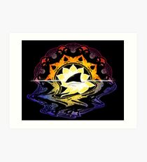 Mandala Sunset Art Print