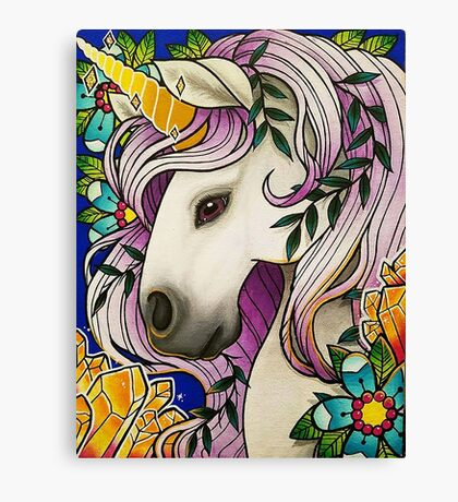 Magical Unicorn Canvas Print