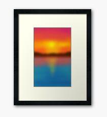 Blurred Sunset Framed Print