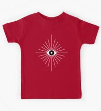 Electric Eyes - Black and White Kids Tee