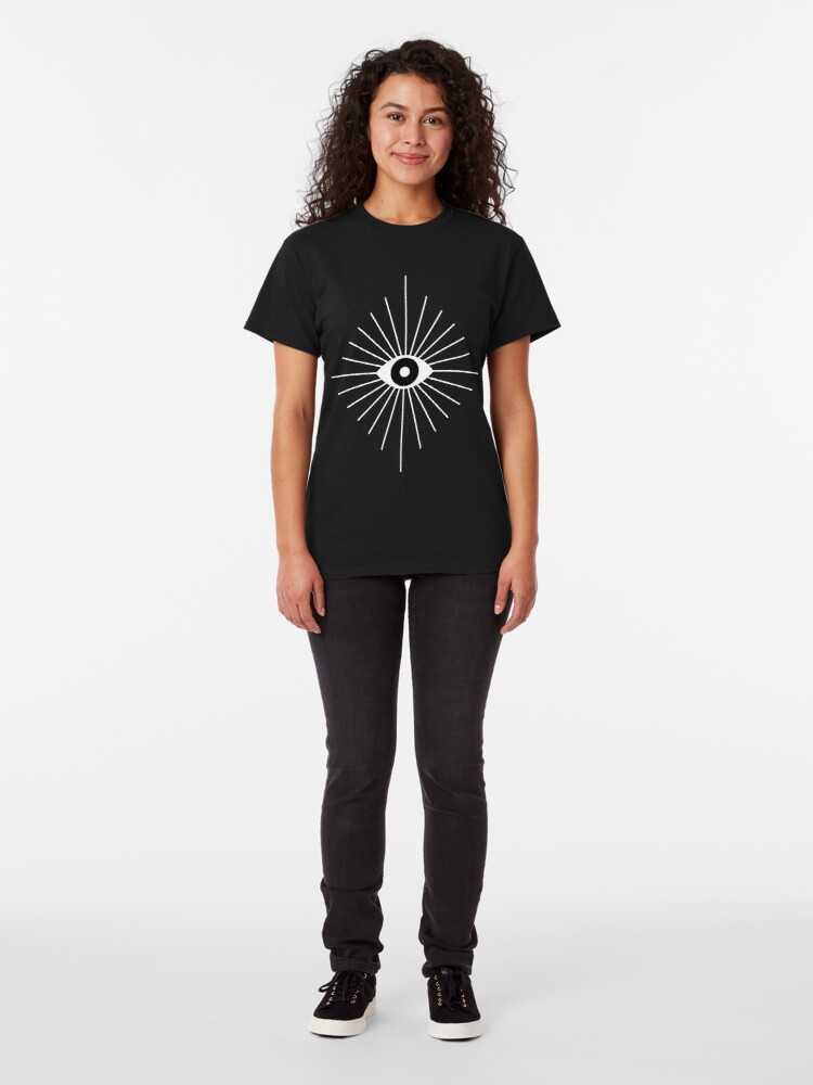 Alternate view of Electric Eyes - Black and White Classic T-Shirt