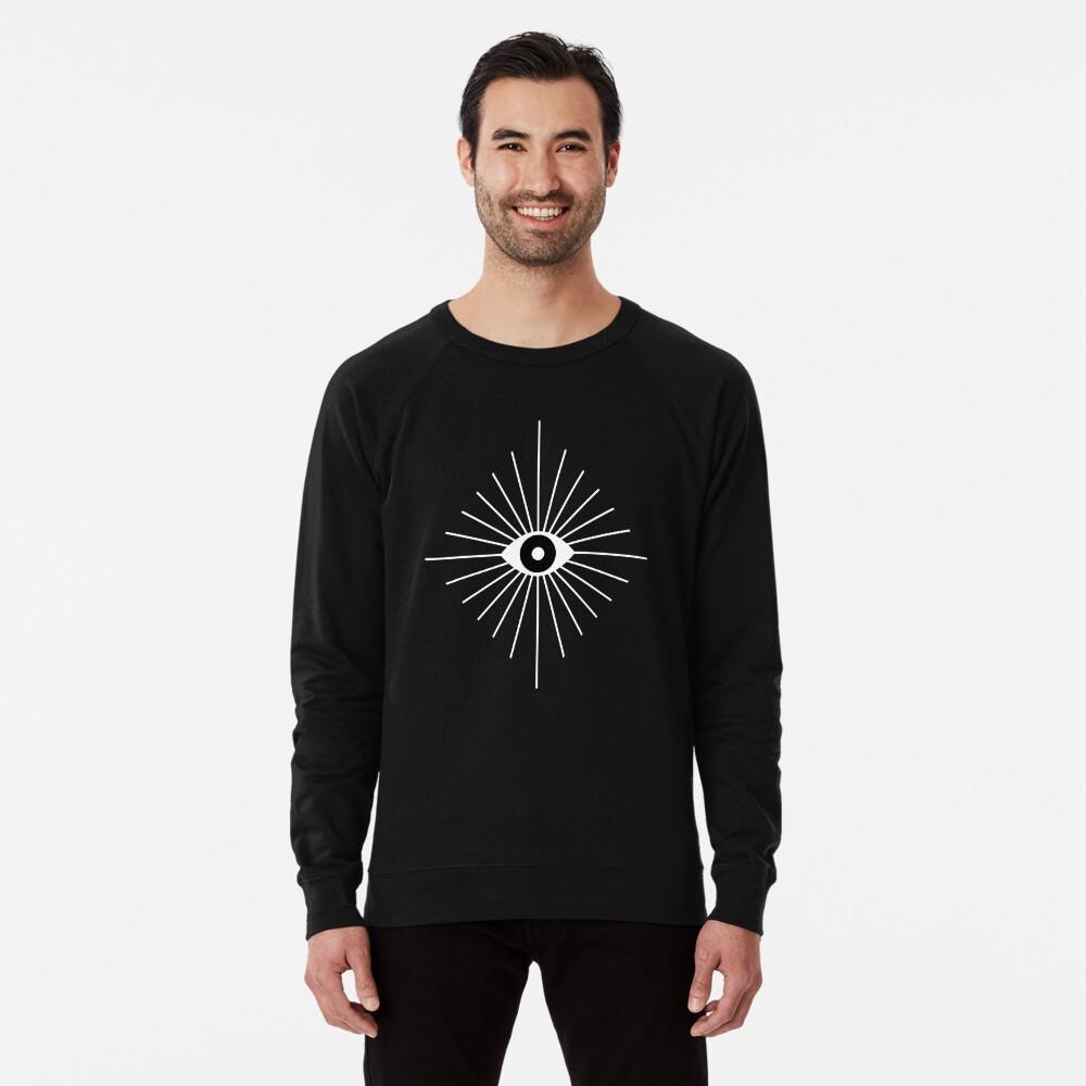 Electric Eyes - Black and White Lightweight Sweatshirt