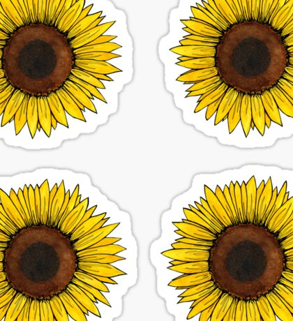 Sunflower sticker sheet Sticker