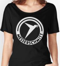 Messerschmitt Aircraft Logo -White- (No Label) Women's Relaxed Fit T-Shirt