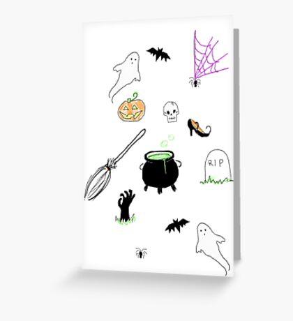 Halloween print Greeting Card