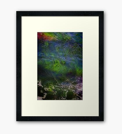Sea Grass Abstract Framed Print