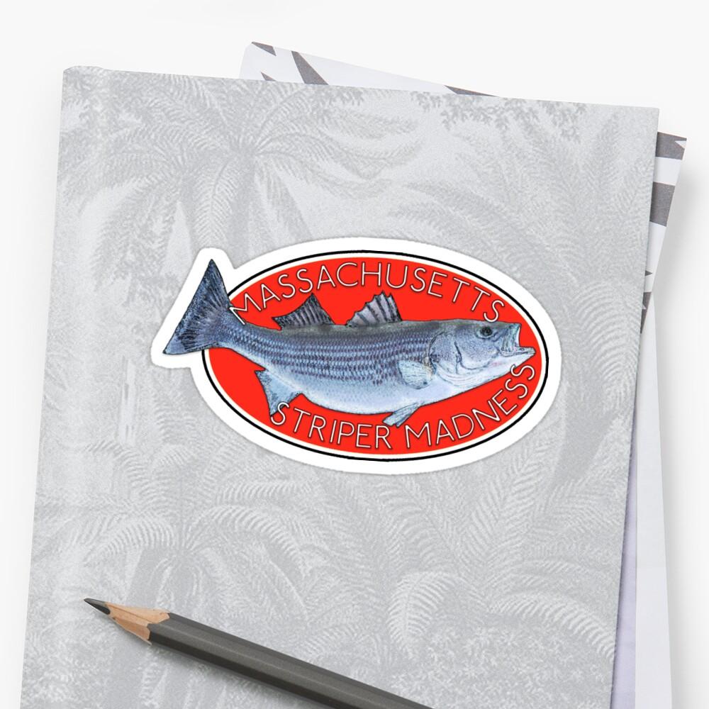Striper Fishing - Massachusetts Striper Madness (Red) by NewNomads
