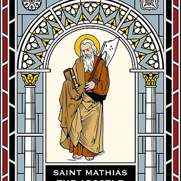 ST MATTHIAS THE APOSTLE under STAINED GLASS by CatholicSaints
