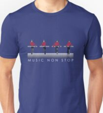 PIXEL8 | Music Non Stop | Red Slim Fit T-Shirt