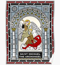 ST MICHAEL THE ARCHANGEL under STAINED GLASS Poster
