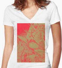 Burning Flame, 2016, 50-70cm, graphite crayon on paper Women's Fitted V-Neck T-Shirt