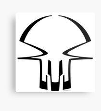 race skull - black Metal Print