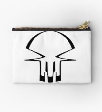 race skull - black Zipper Pouch