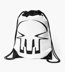 race skull - black Drawstring Bag