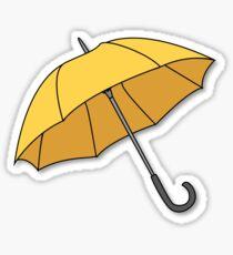 Pegatina Paraguas amarillo