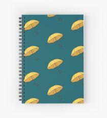 Yellow Umbrella  Spiral Notebook
