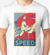 Sonic the Hedgehog V2 (Obama Hope Poster Parody) Unisex T-Shirt