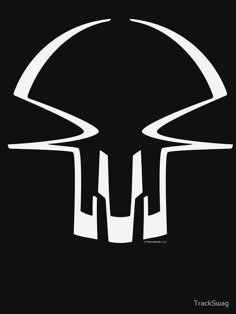 Race Skull - white by TrackSwag