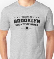 Welcome to Brooklyn - County of Kings (Black) Unisex T-Shirt