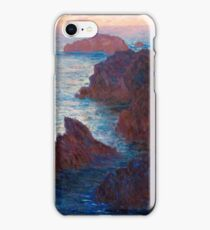 1886-Claude Monet-Rocks at Belle-lle, Port-Domois-65 x 81 iPhone Case/Skin