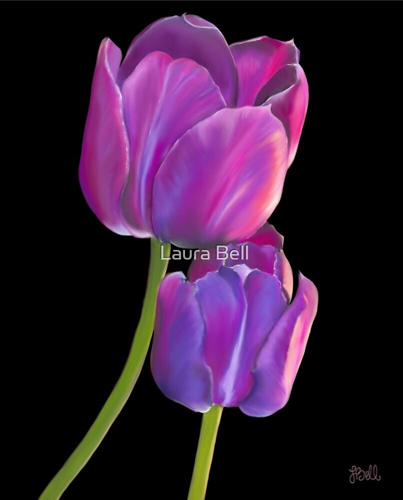 Plum Purple Tulips by Laura Bell