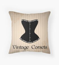 Eegant corset silhouette Throw Pillow