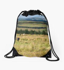 Scotland view from the English borders Drawstring Bag